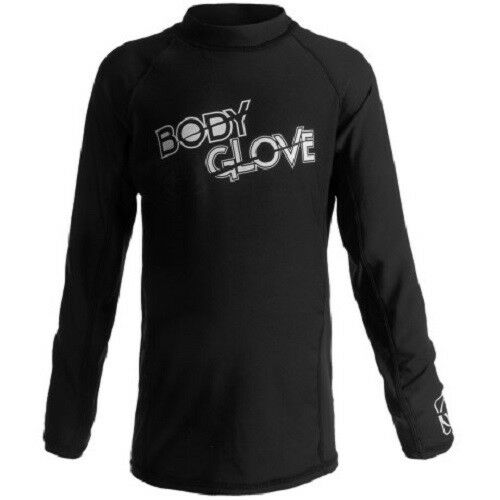 Body Glove Toddler 2//2T Long Sleeve UV Rash Guard Swim Sun Shirt Black NWT