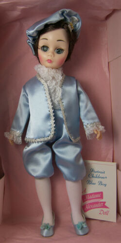 "Madame Alexander 1340 BLUE BOY DOLL 12"" Portraits of Children in Box + Tag 1972"