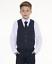 Boys-Suits-Boys-Check-Suits-Boys-Page-Garcon-Mariage-Bal-Costume-Garcons-Bleu-Marine-C miniature 3