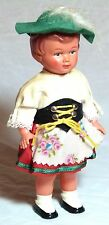 SUPERB VINTAGE TOY GIRL DOLL C1950-60S CLOCKWORK WIND-UP GERMAN FOLK DRESS