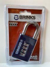Brinks Lock 4 Dial Combo Resettable Padlock Combination Blue 165 50054 New