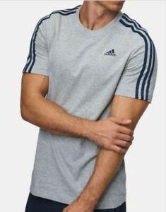 Adidas Ess Mens Crew Neck T Shirt S M L XL XXL