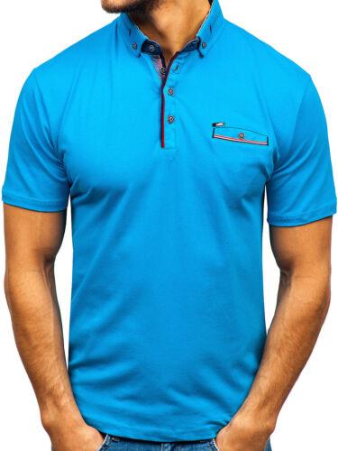 Poloshirt T-Shirt Polo Tee Kurzarm Slim Men Hemd Party Herren Mix BOLF 3C3 Motiv