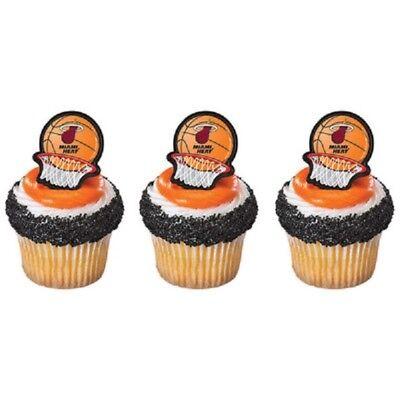 24 Miami Heat Nba Rings Cake Decorating Birthday Party Favors 14749 Ebay