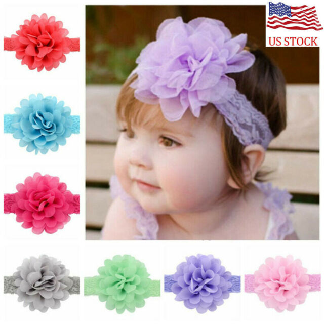 Cute Newborn Baby Girl Toddler Kids Bow Headband Hair Band Headwear 10 Colors