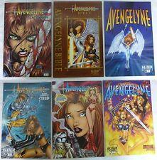 Maximum Press Avengelyne #0 5 6 7 Deadly Sins #2 Bible #1 MINT MT 10 WHITE PAGES