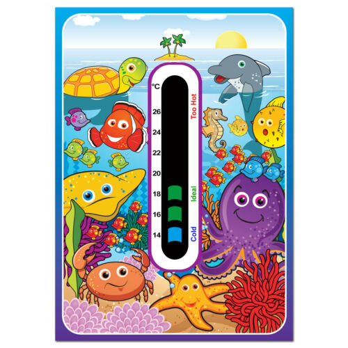 Baby Safe Ideas Marine Nursery Room Thermometer and Duck Bath Thermometer