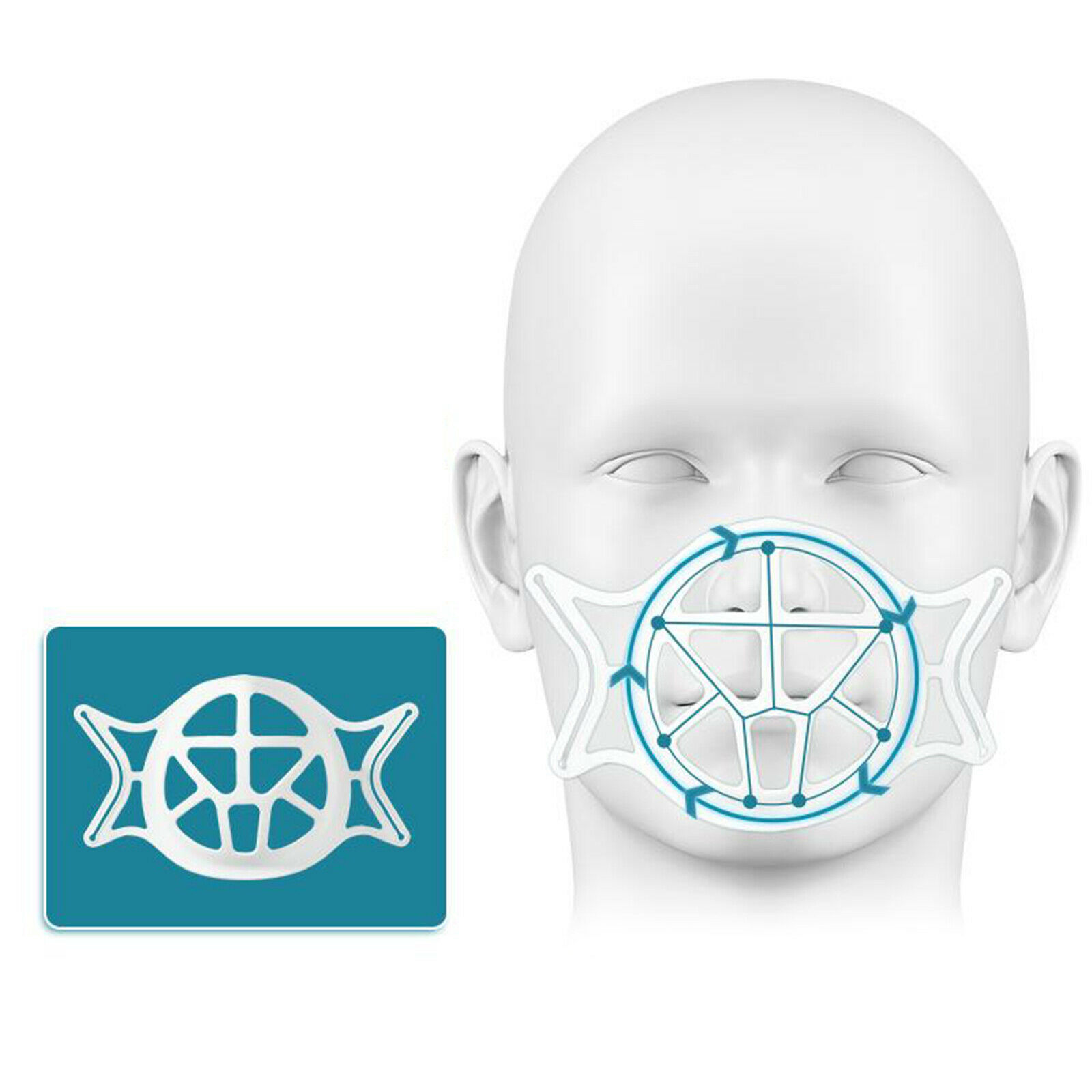 3D Face Mask Bracket Reusable Washable Internal Support Breathing Space