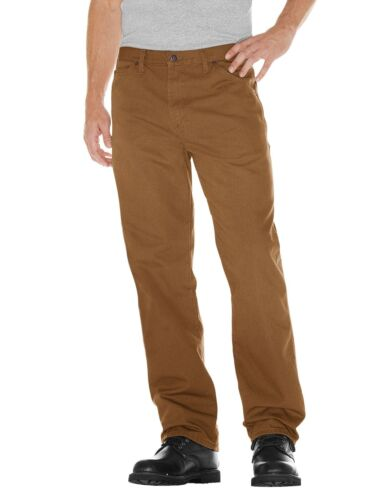 Dickies RINSED BROWN DUCK Relaxed Fit Straight Leg Carpenter Duck Jeans 1939RBD