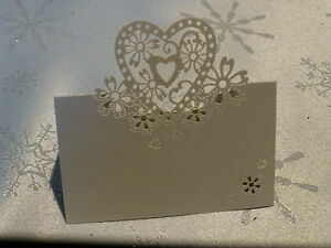 WEDDING-PARTY-PEARLESCENT-SILVER-LASER-CUT-LOVE-HEARTS-PLACE-CARDS-TABLE-NAME