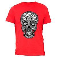 Sugar Skull Day Of The Dead T-shirt Black Mexican Gothic Dia Los Muertos Shirt