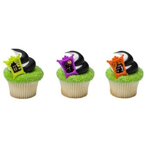 Haunted House Halloween Party Cupcake Rings 24 Neons