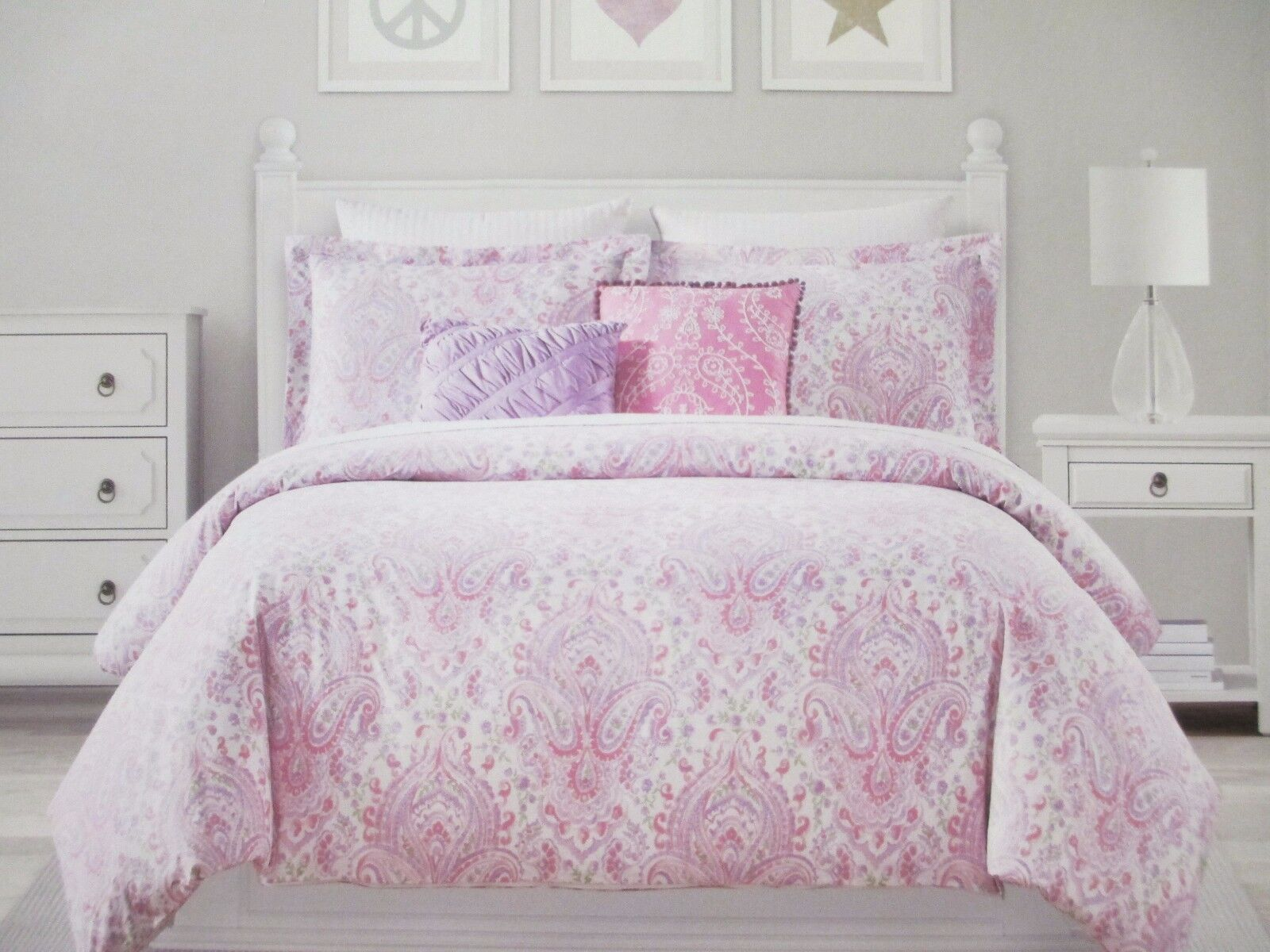 Cynthia Rowley York Comforter 4 Piece Set Twin Floral And Paisley Pattern For Sale Online Ebay