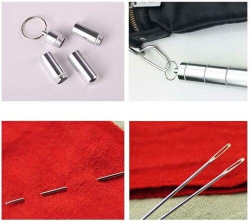 21 Pcs Large Eye Hand Sewing Needles Thimble Yarn Knitting Embroidery Craft Tool