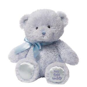 Gund-4043950-Baby-My-First-Teddy-Small-Blue