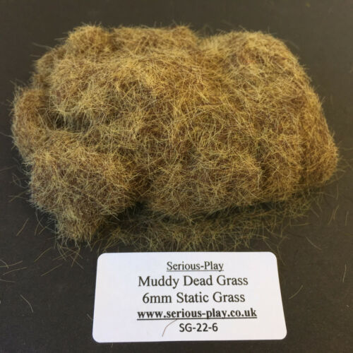 Serious-Play Muddy Dead Static Grass 6mm Model Scenery Warhammer Wargame brown
