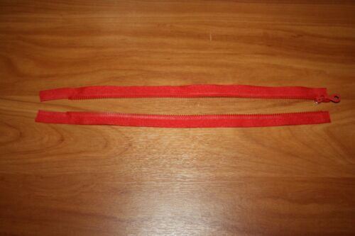 Fermeture éclair Rouge Vermillon 35 cm Maille 5 mm 1 curseur  Séparable NEUF FE3