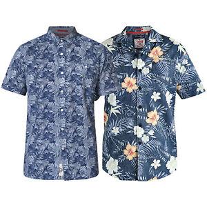 Mens-Hawaii-Shirt-D555-Duke-Cotton-Floral-Big-King-Size-Short-Sleeved-Summer-New