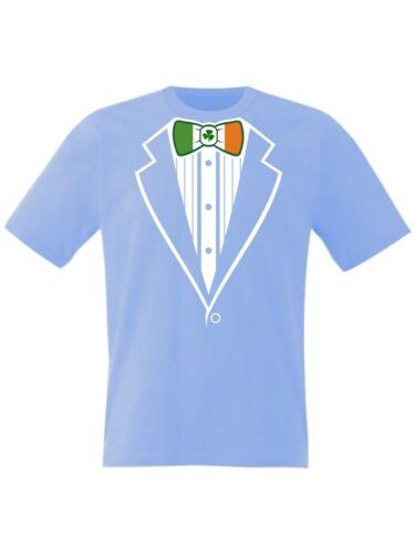 Kids SMOKING T SHIRT Irlanda Calcio Rugby Irlandese Prom ST PATRICKS FANCY DRESS