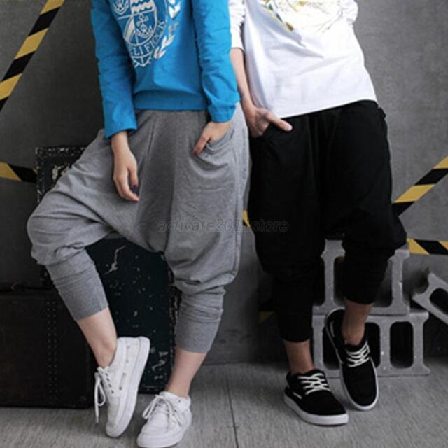 Women Men Baggy Harem Hip-Hop Dance Sport Sweat Pants Long Loose Casual Trousers