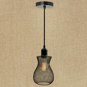 Details About Wire Ceiling Net Shade Pendant Modern Retro Light Easy Fit Lighting Lampshade Uk