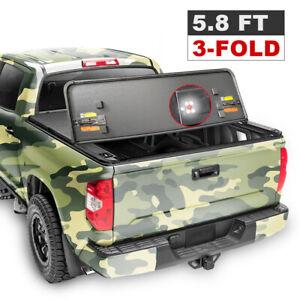 Hard Tri Fold Tonneau Cover For 2009 19 Dodge Ram 1500 Crew Cab 5 7ft Short Bed Ebay