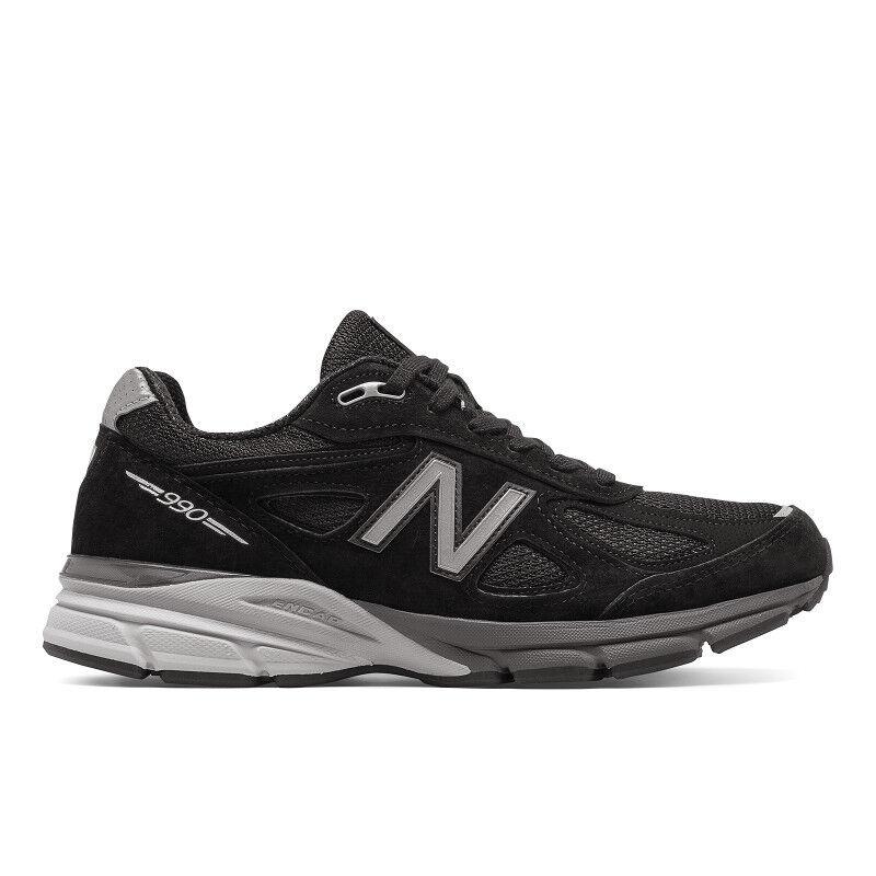 New Balance M990BK4: Men's Running Black/Silver Sneaker