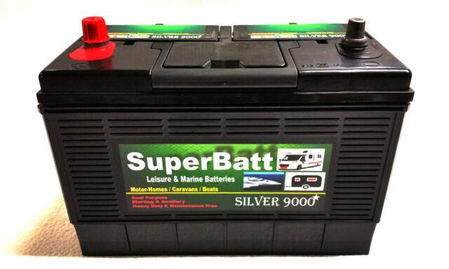 12V 130AH (120AH) SuperBatt CP130 Starting & Auxiliary Leisure & Marine Battery