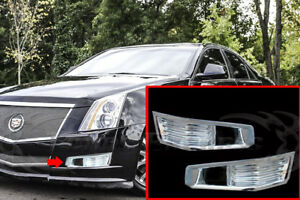 2008-2011-Cadillac-CTS-Chrome-Foglights-Fog-Lamp-Guards-Covers-Bezel-Bumper-2P