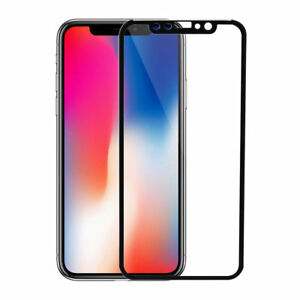Para-Apple-iPhone-10-3D-Negro-Completo-Curvo-X-Vidrio-Templado-Protector-de-pantalla-de-borde