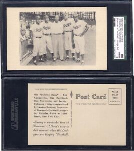 1950-National-Press-Dodgers-Postcard-Bowman-039-s-Cocktail-Lounge-Ad-Back-SGC-88