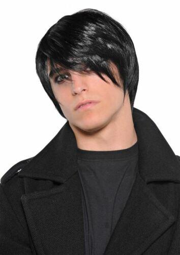 Men/'s  Black Pop Punk Wig