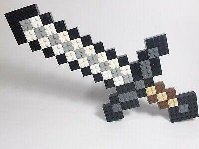 Custom Lego Minecraft Sword Decor Fan Art Pixel 2d Pop Sculpture Weapon Tool Ebay