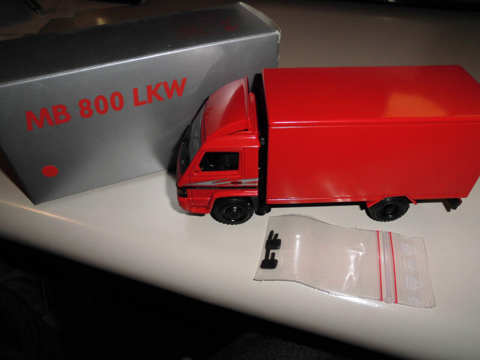 MB Mercedes 800 Kastenwagen rot 454 von NZG unbespielt mit Spiegeln- OVP - 1 43  | Am wirtschaftlichsten