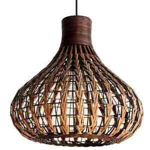 image is loading rattan ceiling light chandelier bamboo wicker lamp shades - Hanging Lamp Shades