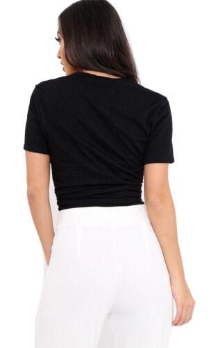 Stripe Black T-Shirts Women Ladies Girls Guilty Slogan Striped Print Vest Top