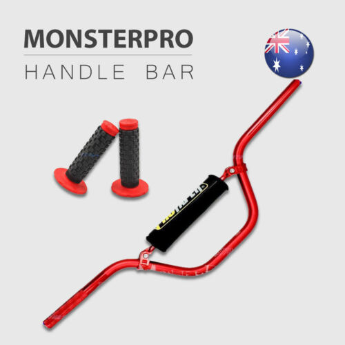 22mm Motorcycle Red Handle Bar 110cc 125cc Dirt Pit Trail Bike ATV Atomik Grips
