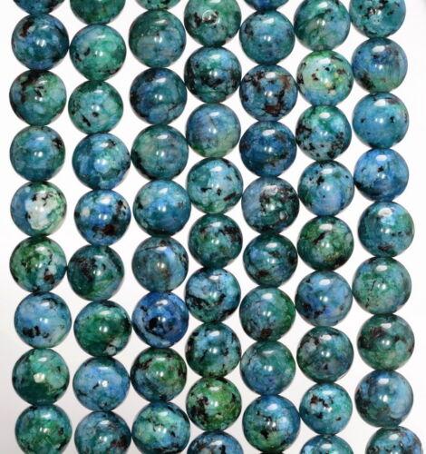 "8MM BLUE GREEN JADE GEMSTONE ROUND LOOSE BEADS 15/"""