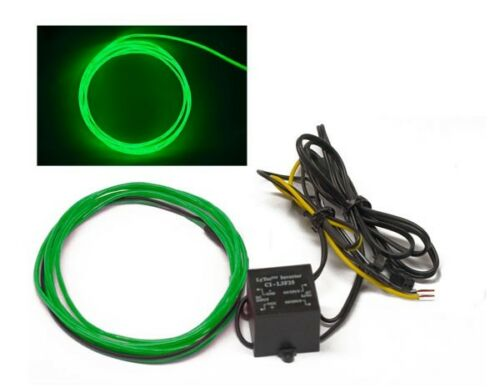 GREEN 5 foot 12v Glow Wire for gauges