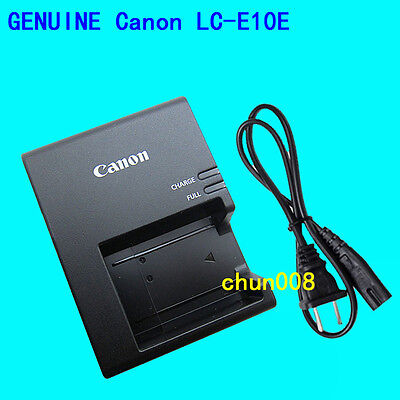 Genuine Canon LC-E10E Battery Charger for EOS 1100D 1200D 1300D X50 Rebel Kiss