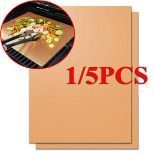 1-5X-BBQ-Grill-Mat-Copper-Pad-Non-Stick-Barbecue-Bake-Cooking-Mat-Chef-Reusable