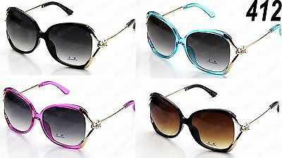 New Womens Retro Vintage Designer Sunglasses Fashion Shades Butterfly Oversized