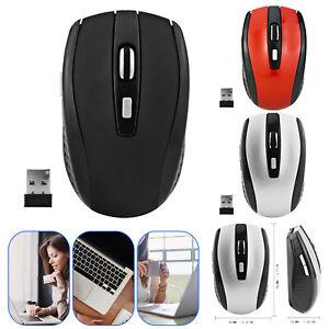 Portatile 6 Pulsanti 2.4G USB Wireless Mouse 1600DPI Ottico Mice per Laptop