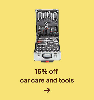 15% offcar care and tools