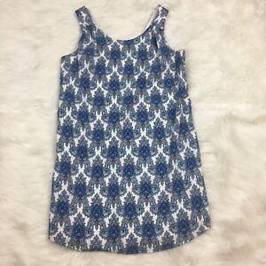 Lila-Rose-Size-6-Womens-Dress-Sleeveless-Layered-Blue-White