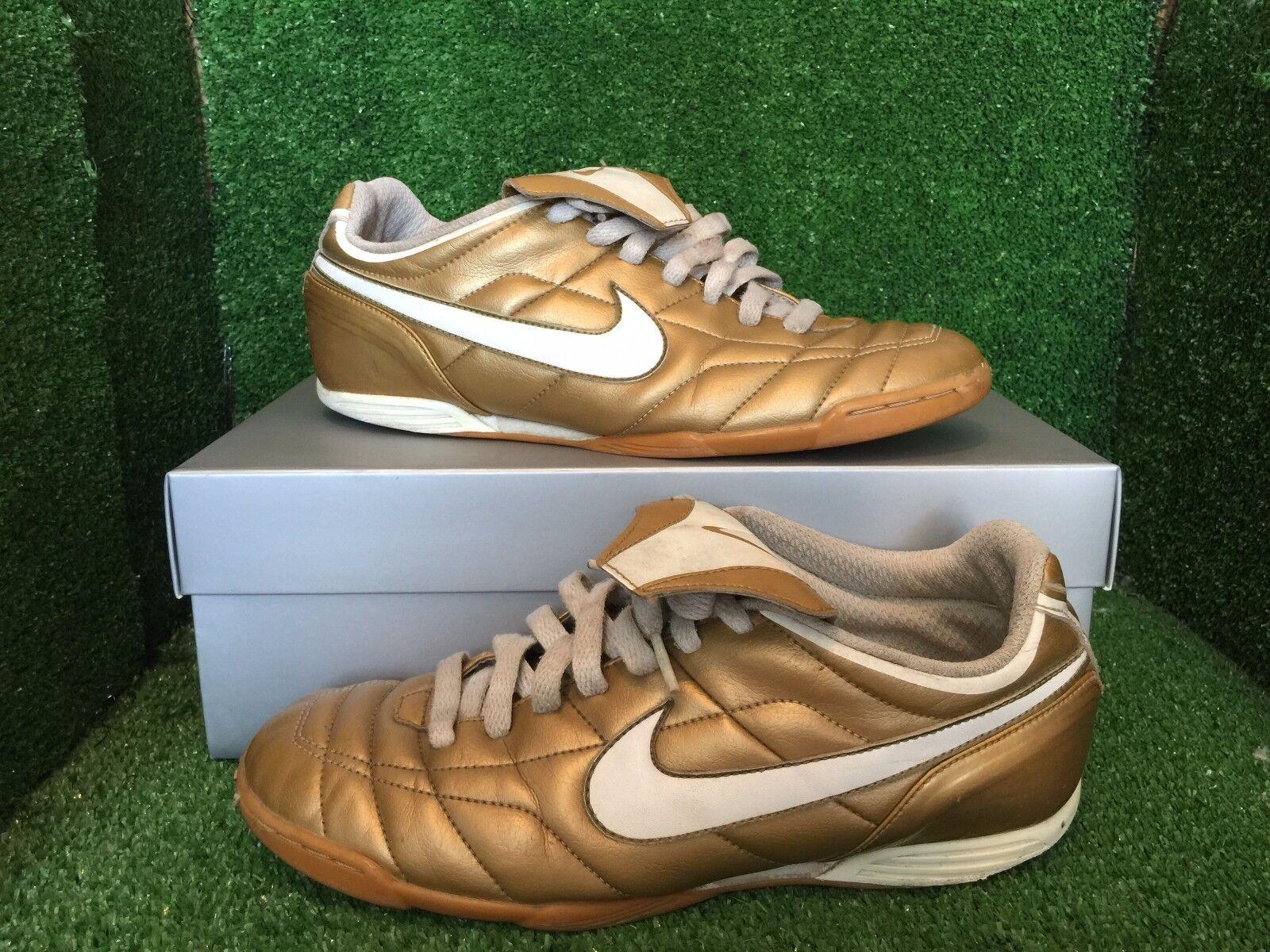 NIKE TIEMPO Indoor R10 RONALDINHO gold T90 Size 8,5 7,5 42