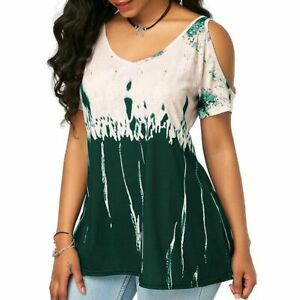 Pullover-Fashion-Elegant-Top-New-Floral-T-Shirt-Tops-Casual-Womens-V-Neck-Jumper
