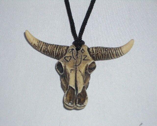 Six  Pewter Steer Skull Pendants