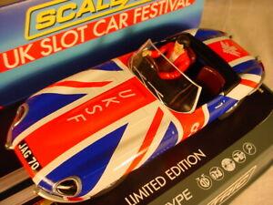 Scalextric-UKSF-2018-E-Type-Jaguar-C3878SF-Slot-Car-Festival-MB-34-of-125
