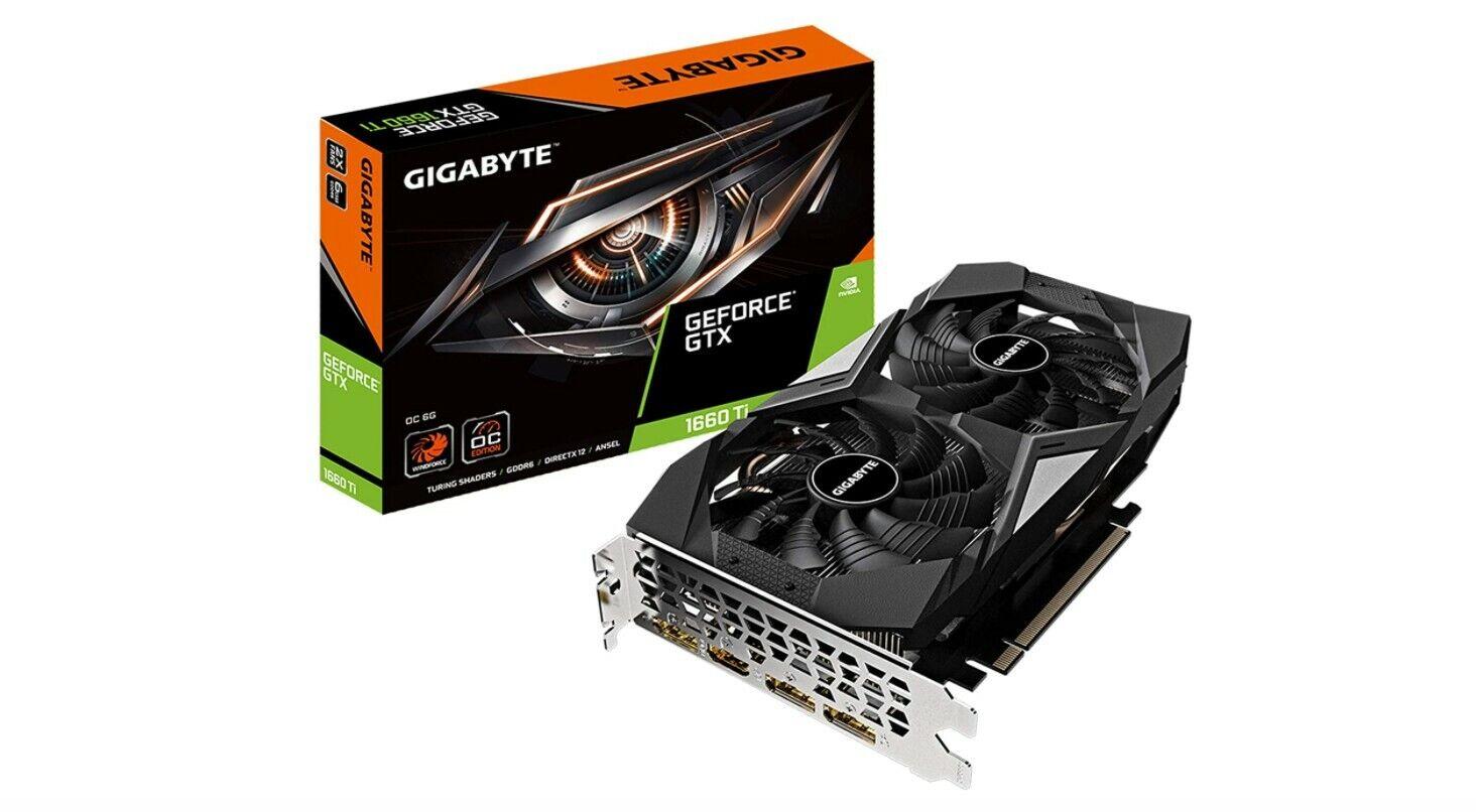 GIGABYTE GeForce GTX 1660 Ti OC 6G 192-bit GDDR6 DisplayPort 1.4 HDMI 2.0B with